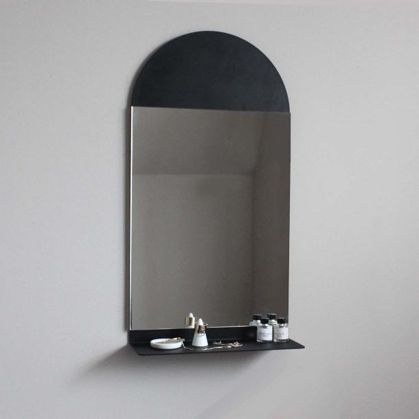 Настінна поличка-дзеркало